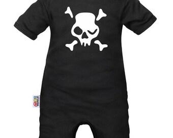 Baby romper: death's head - wink