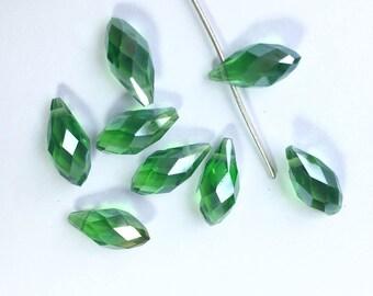 SWAROVSKI Crystal 12 x 6 mm Pearl drop PENDANT Crystal AB (RV7) light CHAMPAGNE