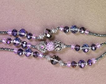Lavender Crystal beaded bracelet