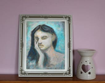 fine art print/limited edition/impressionist art portrait/christmas gift for her/gift for mum/wall art/office art