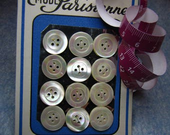 Card 12 1.5 cm White Pearl buttons - #2024_15