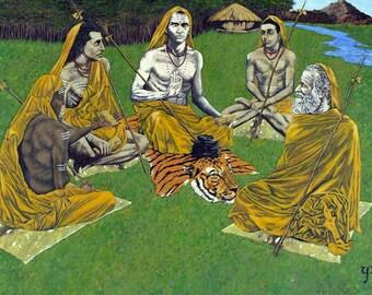 Adi Shankaracharya and His Circle at Arunachala