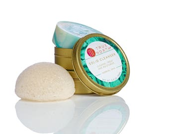 True North - Purifying Solid Cleanser & Natural Sponge
