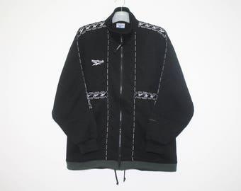 Reebok Black Polyester Full Zip Jacket Size M