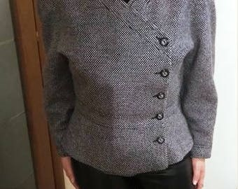 VALENTINO - 80's gray vintage wool jacket - Size 46 EU