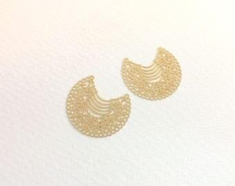 spacer 10 prints candlesticks 29x33mm Golden jewellery designs