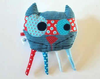 Small cuddly cat superhero original and funny Melichat