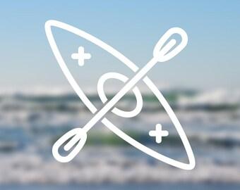 Kayak Icon Vinyl Decal | Water Bottle Decal | Car Window Decal | Laptop Decal