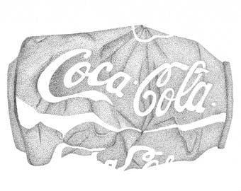 Crushed Coke Can Stippling
