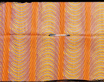"""coupon """"psychedelik"""" African wax fabric"""