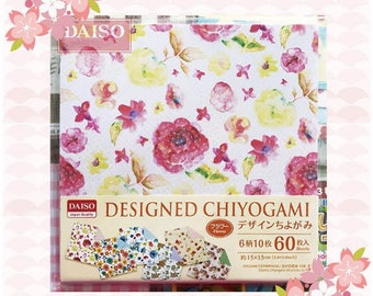 60 sheets double sided origami paper DESIGNED CHIYOGAMI 15*15 cm
