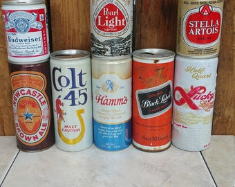 Vintage Beer cans...perfect for a vintage style wedding