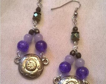 "Earrings 1 ""buckles escape"" collection"