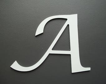 Metal aluminum LUCIDA CALLIGRAPHY letter. all letters available