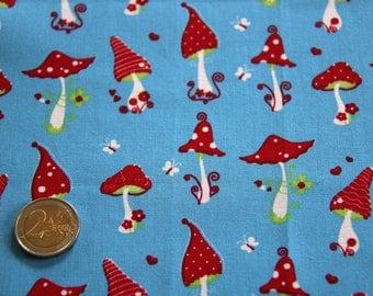 coupon fabric patchwork 50 X 50 cm / mushrooms