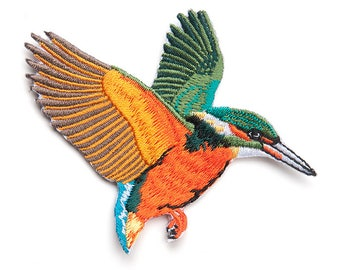 Kingfisher Patch Bird Patch Iron on Patch Sew On Patches back patch