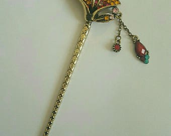 gorgeous vintage rhinestone hair stick