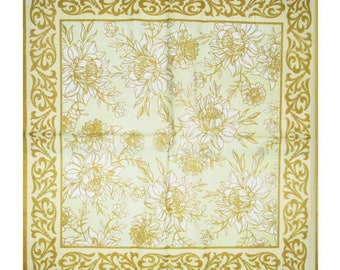 """Collage decor """"flowers and Golden arabesques"""" napkin for decoupage and decor items"""