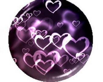 25mm cabochon heart (purple)