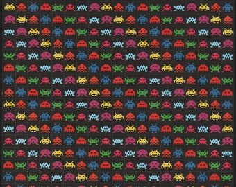 Space Invaders Black  - Blotter art