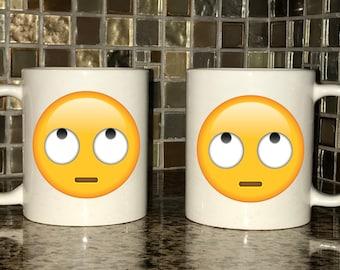 Mug - Rolling Eyes Emoji
