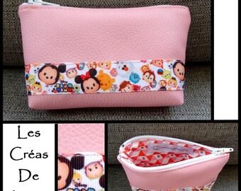Light pink leatherette Tsum Tsum coin purse