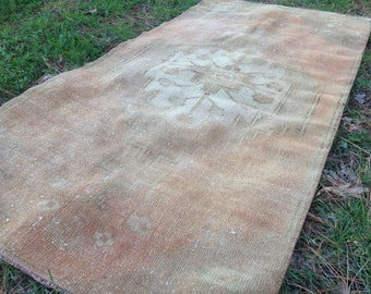 Turkish rug, Vintage rug, Handmade rug, Muted rug, Area rug, Wool rug, Turkish rug, Rug // FREE SHİPPİNG!! 160 cm x 75 cm = 5'2'' x 2'4'' ft