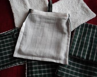 set of 6 wipes Terry cotton men's or all