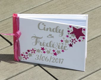 Guestbook for wedding theme stars