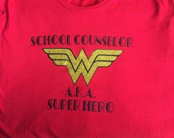 Wonder Woman School Counselor T-shirt