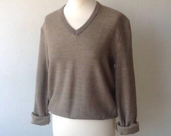 70s Smart Casual Cotton Sweater (Small/Medium)