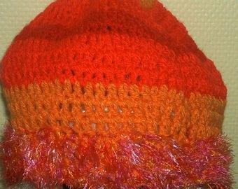 Multicolored wool hat