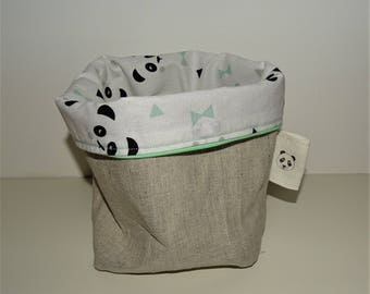 Basket reversible panda for diapers or other