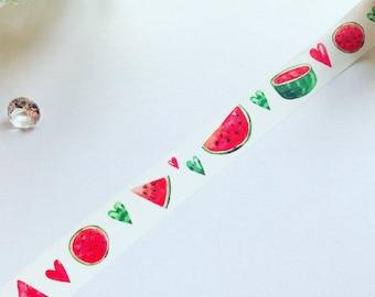 Watermelon Washi Tape // Summer Washi Tape // Fruit Washi Tape // Planner Decoration // Masking Tape
