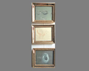 Set of 3 contemporary painings by Christine Gornowicz