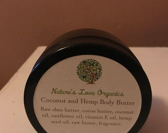 Coconut and Hemp Body Butter