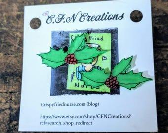 Mistletoe//Christmas/earrings/holiday