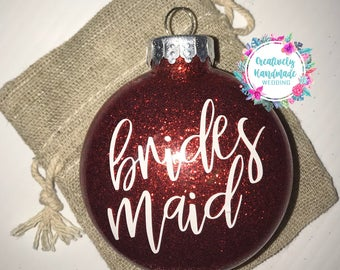 Bridesmaid ornament  Etsy