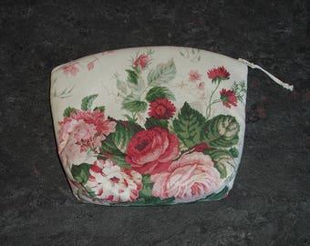 Rose and Foxglove Zipped Bag/Purse