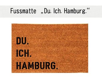 YOU. I. HAMBURG. Coco - mat carpet door mat 40 x 60 cm