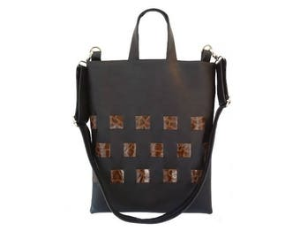 Shoulder Bag with long adjustable straps. Handmade,comfortable & unique
