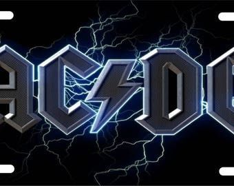 AC/DC Rock Band License Plate