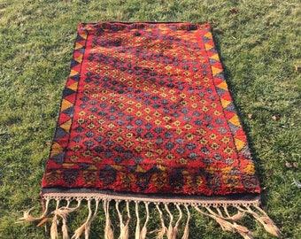 Oushak Rug,Turkish Rug, Vintage Rug,Pastel Colors,6.6'x4.0'ft,Area Rug, Home Living,Office Decor, Fashion Rug,handwoven Rug