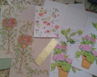 Vintage Stationery Collection ~ Pretty House Plants Mini Collection
