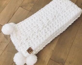 Pure white scarf