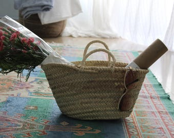 Wicker Moroccan Mini Basket Brand New