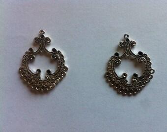 Set of 2 brackets for design of earrings or pendants