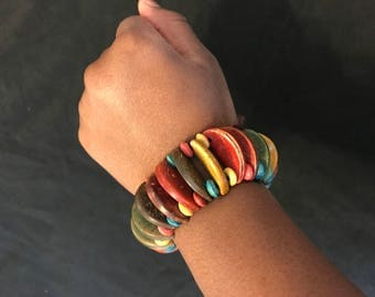 Colorful African Bead Bracelet