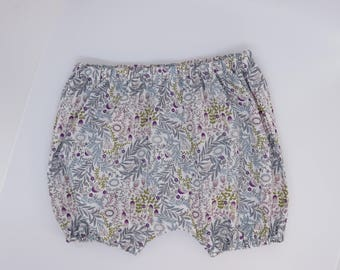 Baby bloomers-Baby summer shorts-Bloomers 0-3 months-Baby girl bloomers-Floral bloomers