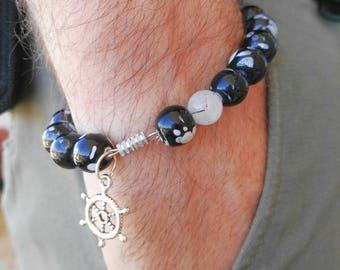 JOLLY ROGER pearl bracelet